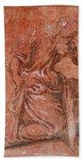 A Bearded Saint Kneeling Beach Towel