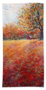 A Beautiful Autumn Day Beach Towel