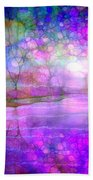 A Bewitching Purple Morning Beach Towel