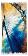 A Big Wheel Roller Coaster Ride Under A Sunset Beach Towel