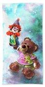 A Birthday Clown For Miki De Goodaboom Beach Towel