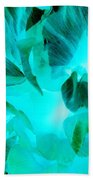 A Bloom In Turquoise Beach Towel