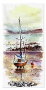 A Boat On Anglesey 01 Beach Towel