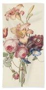 A Bouquet, Henriette Geertruida Knip, Ca. 1820 Beach Towel