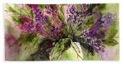 A Bouquet Of May-lilacs Beach Towel