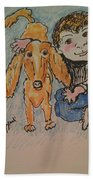 A Boy And His Dog Beach Towel