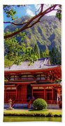 Buddhist Temple - Oahu, Hawaii - Beach Towel