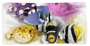 A Bunch Of Colorful Fish No 01 Beach Towel