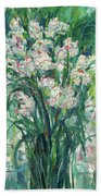 A Bunch Of Orchid Paintings Beach Towel