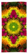 A Burst Of Flowers Kaleidoscope Beach Towel