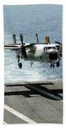 A C-2a Greyhound Prepares To Land Beach Towel