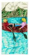 A Canoe Ride Beach Towel by Elinor Rakowski