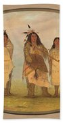 A Cheyenne Chief His Wife And A Medicine Man Beach Towel