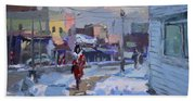 A Cold Afternoon In Tonawanda Beach Towel