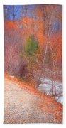 A Colourful Winter Beach Towel