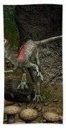 A Compsognathus Prepares To Swallow Beach Sheet