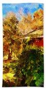 A Corner Of Autumn  Beach Towel