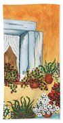 A Cottage In The Village Beach Towel
