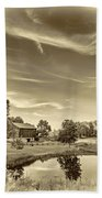 A Country Place 3 - Sepia Beach Towel