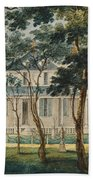 A Country Residence Possibly General Moreau's Country House At Morrisville Pennsylvania Beach Towel