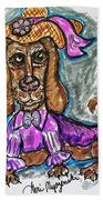 A Dachshund Easter Beach Towel