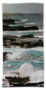 A Dangerous Coastline Beach Towel