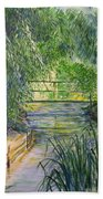 A Day At Giverny Beach Towel