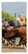A Day At The Races Beach Towel