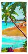 A Day In Paradise Hawaii #359 Beach Towel