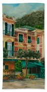 A Day In Portofino Beach Towel by Charlotte Blanchard
