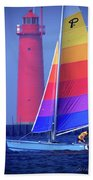 A Day Of Sailing Beach Towel