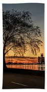 A Detroit Sunset - The View From Belle Isle Beach Towel