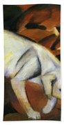 A Dog 1912 Beach Towel