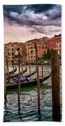Surreal Seascape On The Grand Canal In Venice, Italy Beach Towel