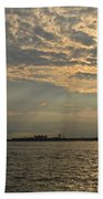 A Evening With Hudson River Beach Towel
