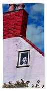 A Face At The Window Beach Towel