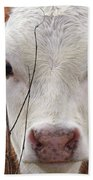 A Face You Can Love - Cow Art #609 Beach Towel