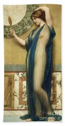 A Fair Reflection Beach Towel by John William Godward