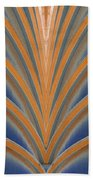 A Fan Of Art Deco Beach Towel