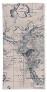 A Fishermans Map Beach Towel