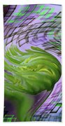 A Flower In The Sound Of Wind  Beach Towel