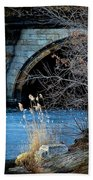 A Frozen Corner In Central Park Beach Towel by Chris Lord
