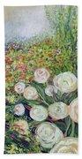A Garden Romance Beach Towel