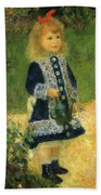 A Girl With A Watering Can 1876 Beach Towel