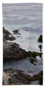 A Grey Day At Big Sur Beach Towel