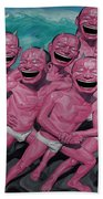 A Group Of People Laugh Beach Towel