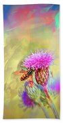 A Hoverfly On Abstract #h3 Beach Towel