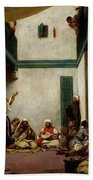 A Jewish Wedding In Morocco Beach Towel by Ferdinand Victor Eugene Delacroix