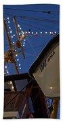 A Lifeboat Named Maria Boston Tall Ships 2017 Lighted Mast Boston Ma Beach Towel