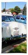 A Line Of Classic Antique Cars 3 Beach Towel